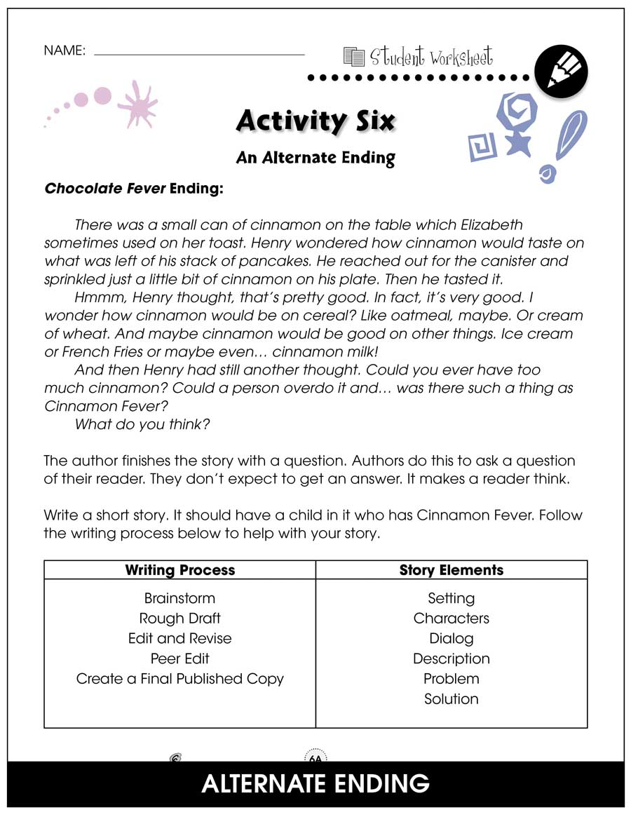 Chocolate Fever - Literature Kit Gr. 3-4 - BONUS WORKSHEETS - eBook