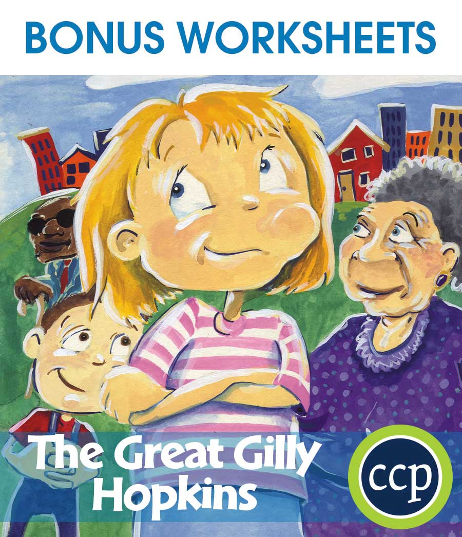 The Great Gilly Hopkins - Literature Kit Gr. 5-6 - BONUS WORKSHEETS - eBook