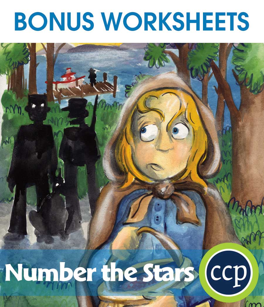Number the Stars - Literature Kit Gr. 5-6 - BONUS WORKSHEETS - eBook