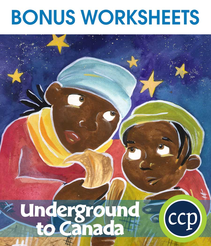 Underground to Canada - Literature Kit Gr. 5-6 - BONUS WORKSHEETS - eBook