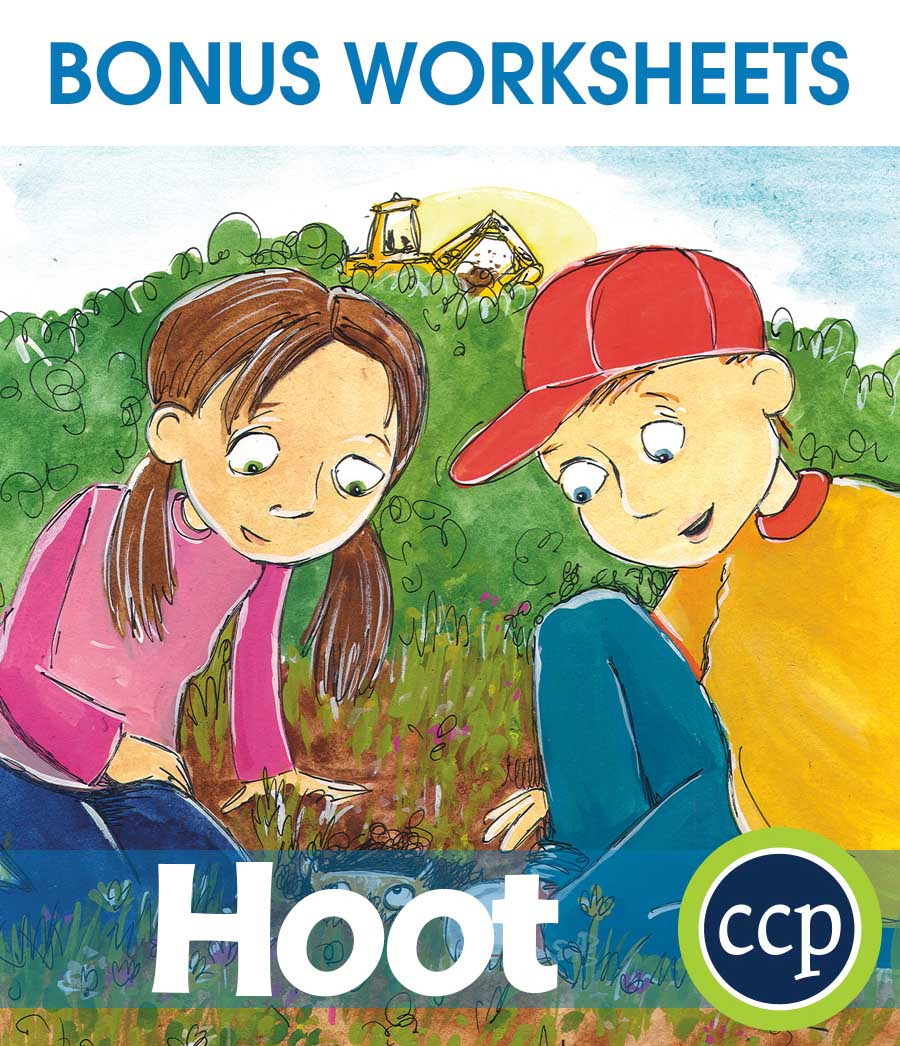 Hoot - Literature Kit Gr. 5-6 - BONUS WORKSHEETS - eBook
