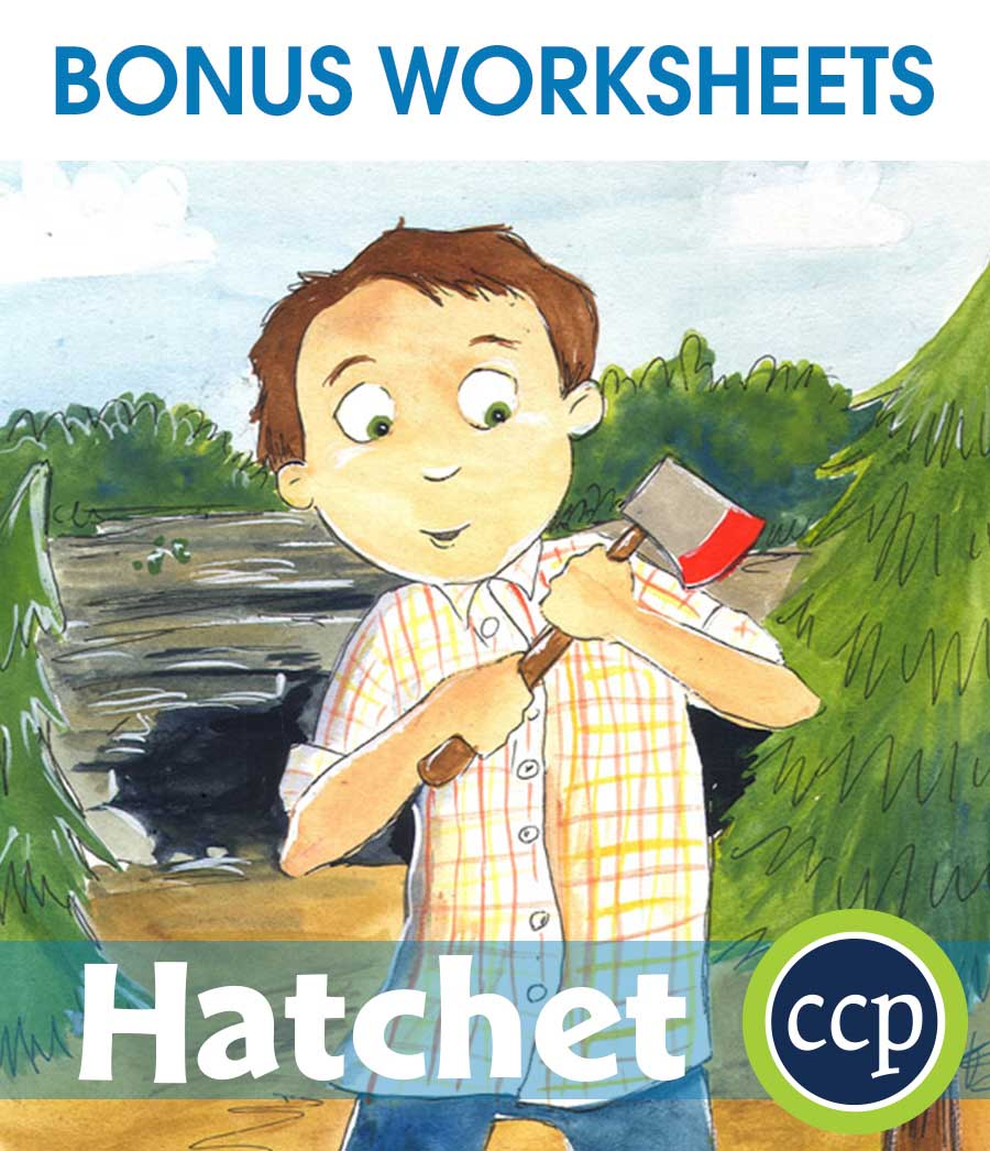 Hatchet - Literature Kit Gr. 5-6 - BONUS WORKSHEETS - eBook