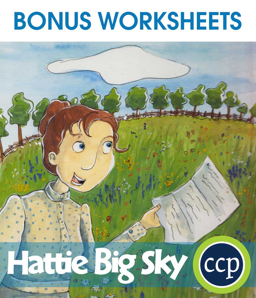 Hattie Big Sky - Literature Kit Gr. 5-6 - BONUS WORKSHEETS - eBook