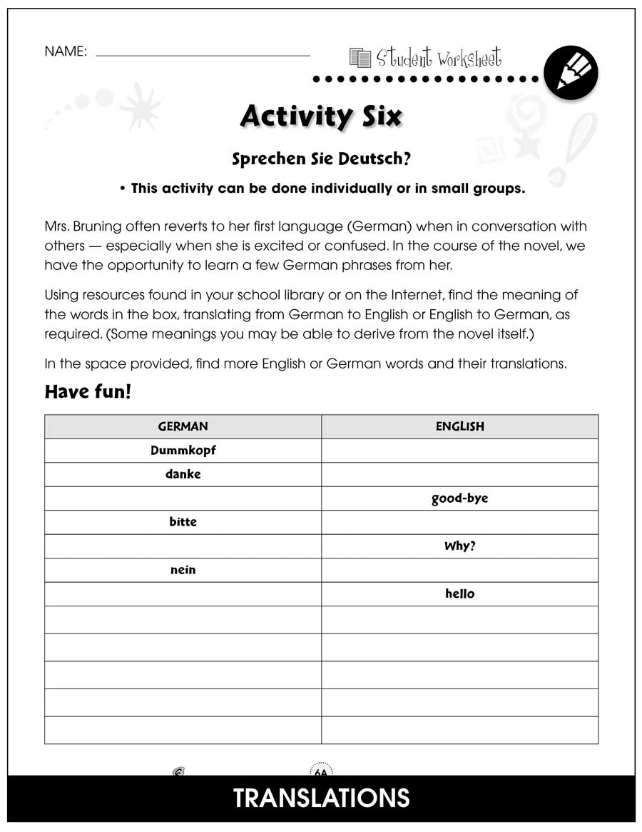 Criss Cross - Literature Kit Gr. 5-6 - BONUS WORKSHEETS - eBook