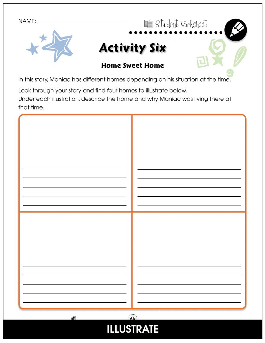Maniac Magee - Literature Kit Gr. 5-6 - BONUS WORKSHEETS - eBook