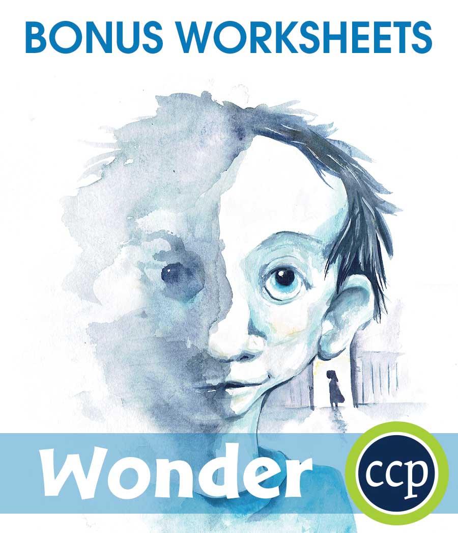 Wonder - BONUS WORKSHEETS - Grades 5 to 6 - eBook - Bonus