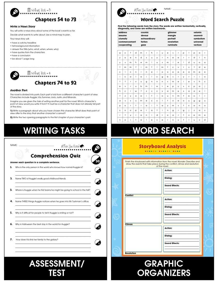 Wonder - Novel Study Guide - Grades 5 to 6 - Print Book - Lesson
