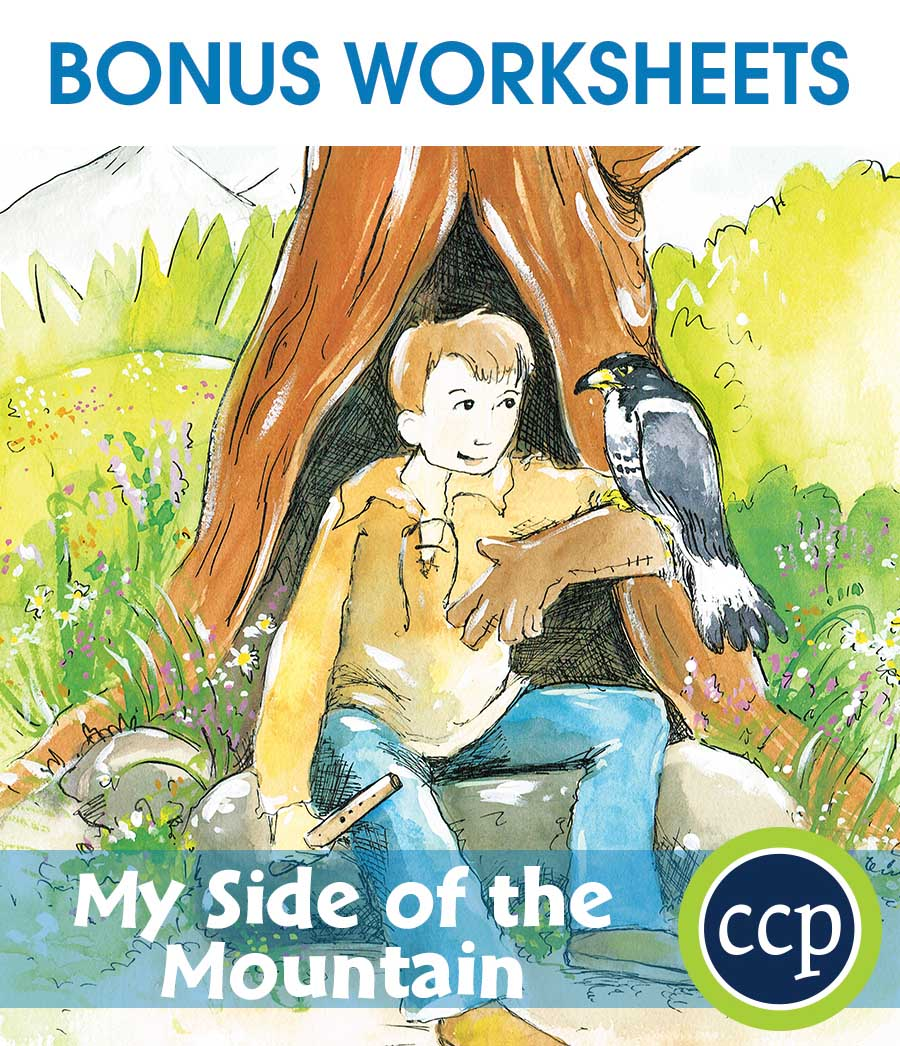 My Side of the Mountain - Literature Kit Gr. 5-6 - BONUS WORKSHEETS - eBook