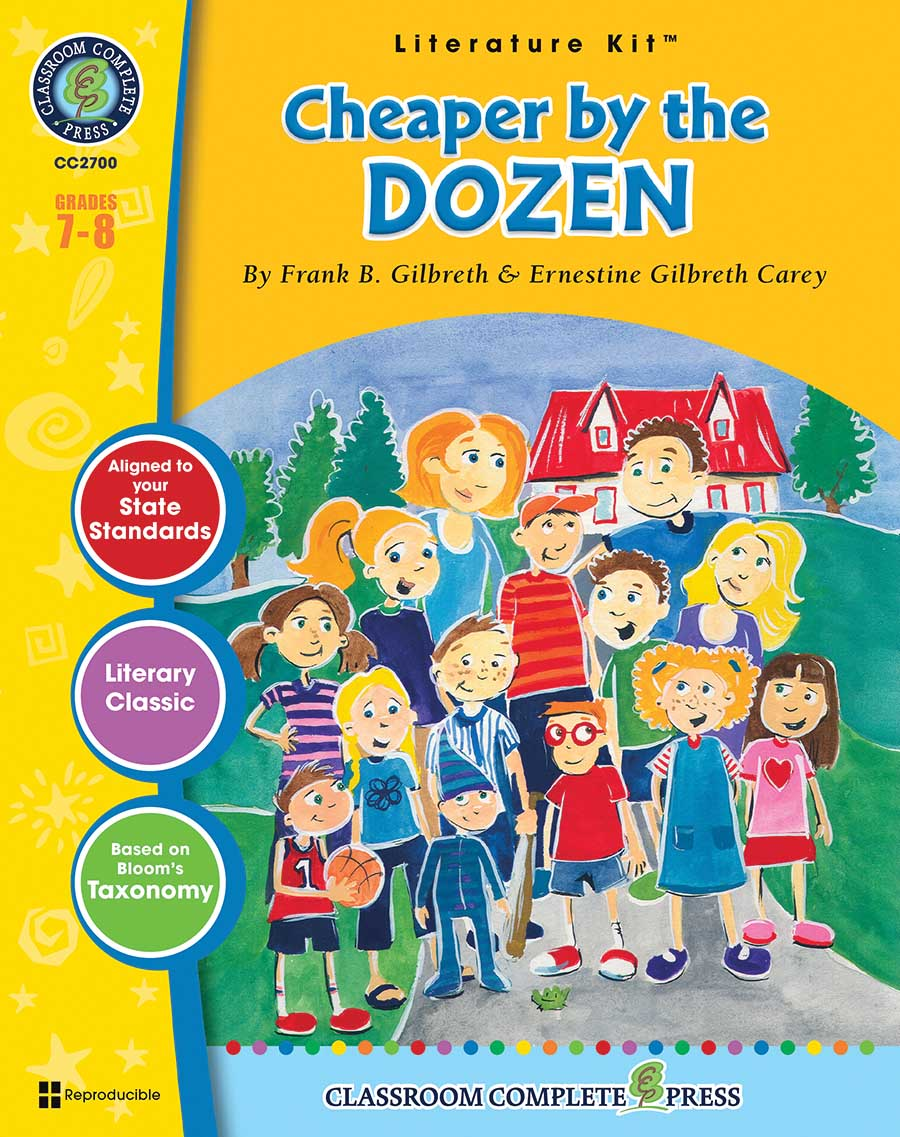 Cheaper by the Dozen - Literature Kit Gr. 7-8 - print book