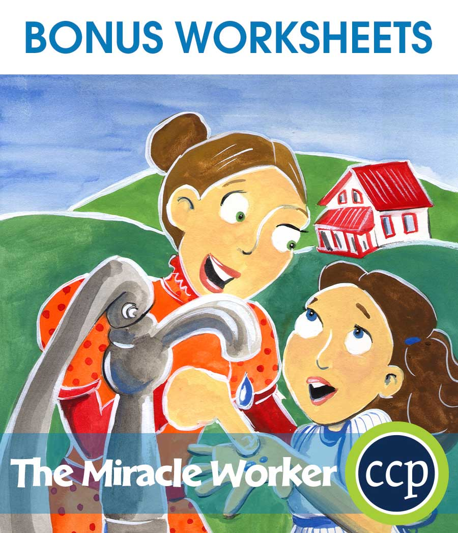 The Miracle Worker - Literature Kit Gr. 7-8 - BONUS WORKSHEETS - eBook
