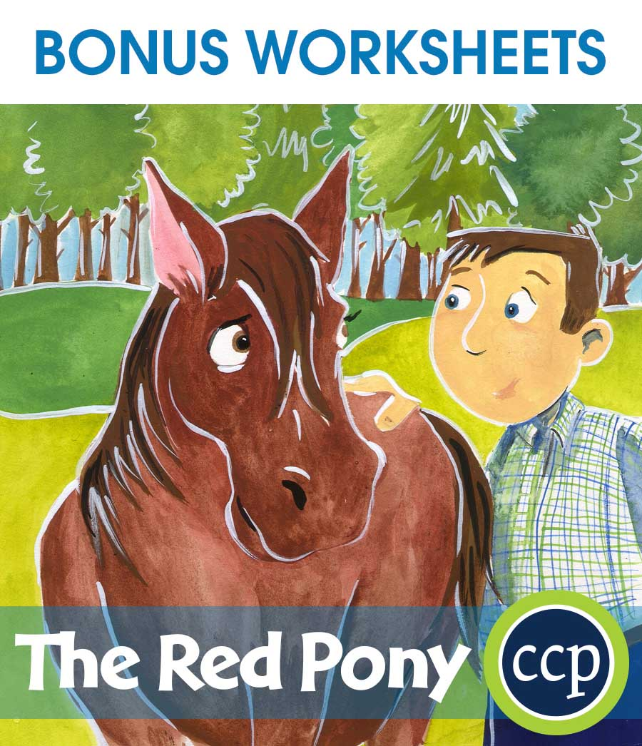 The Red Pony - Literature Kit Gr. 7-8 - BONUS WORKSHEETS - eBook