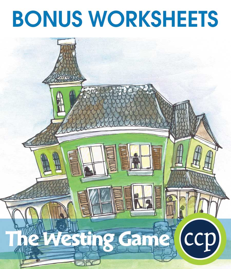 The Westing Game - Literature Kit Gr. 7-8 - BONUS WORKSHEETS - eBook