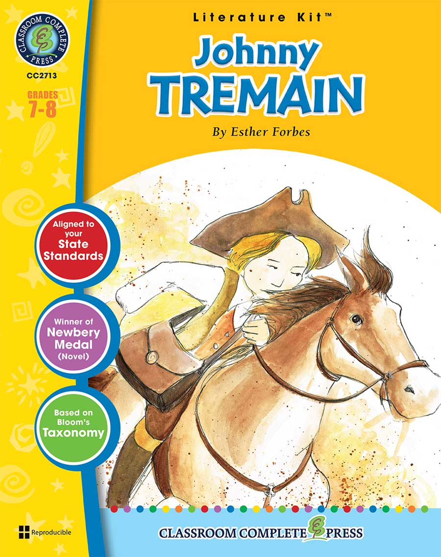 Johnny Tremain - Literature Kit Gr. 7-8 - print book