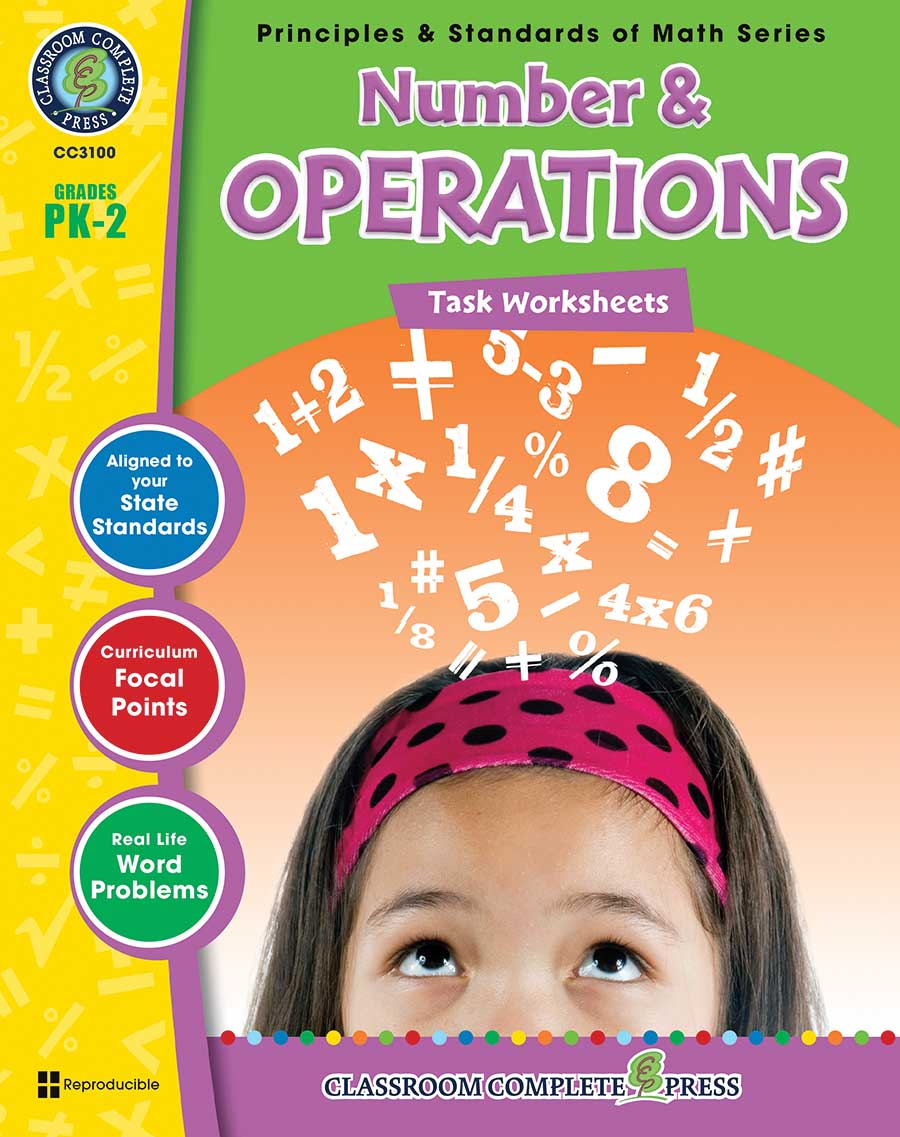 Number & Operations - Task Sheets Gr. PK-2 - print book