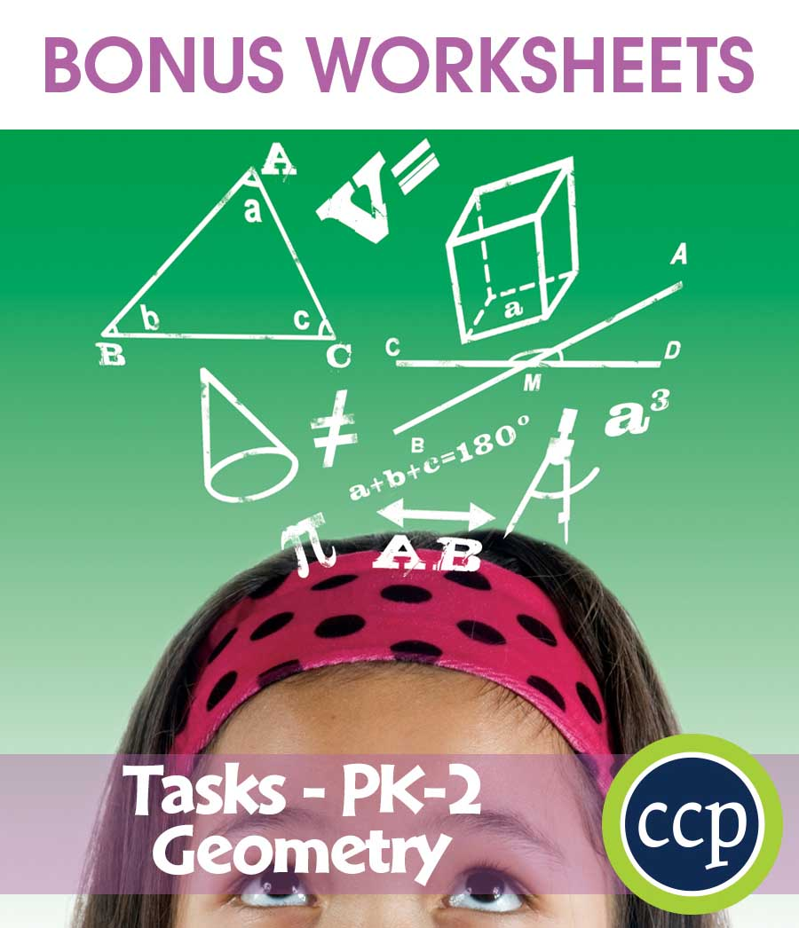 Geometry - Task Sheets Gr. PK-2 - BONUS WORKSHEETS - eBook