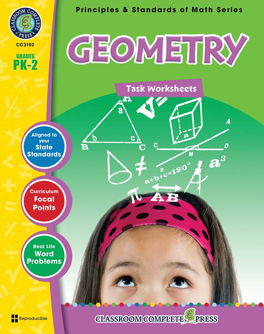 Geometry - Task Sheets Gr. PK-2 - print book