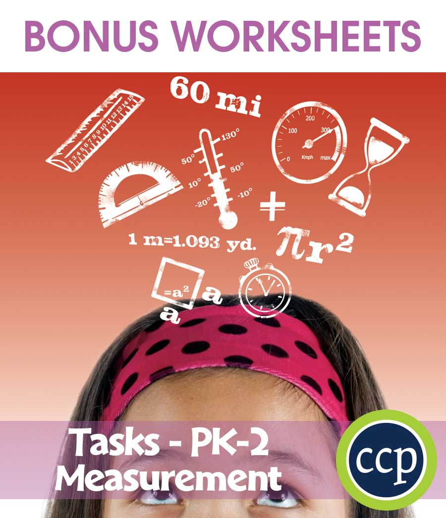 Measurement - Task Sheets Gr. PK-2 - BONUS WORKSHEETS - eBook