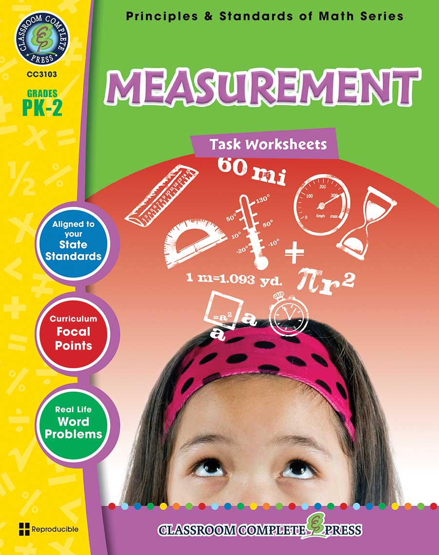 Measurement - Task Sheets Gr. PK-2 - print book