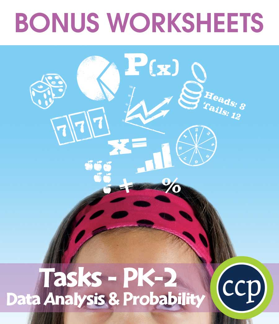 Data Analysis & Probability - Task Sheets Gr. PK-2 - BONUS WORKSHEETS - eBook