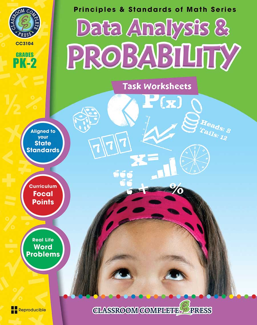Data Analysis & Probability - Task Sheets Gr. PK-2 - print book