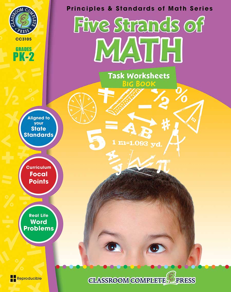 Five Strands of Math - Tasks  Big Book Gr. PK-2 - print book