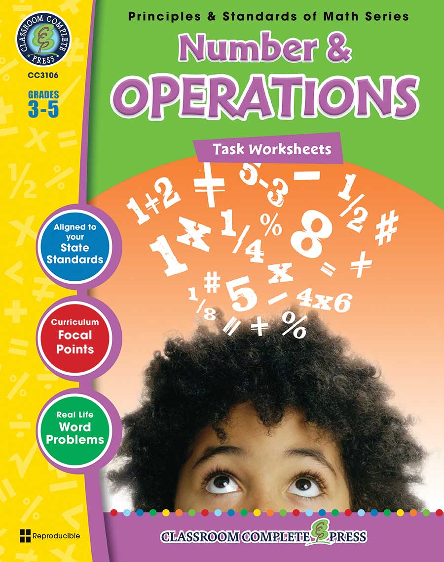 Number & Operations - Task Sheets Gr. 3-5 - print book