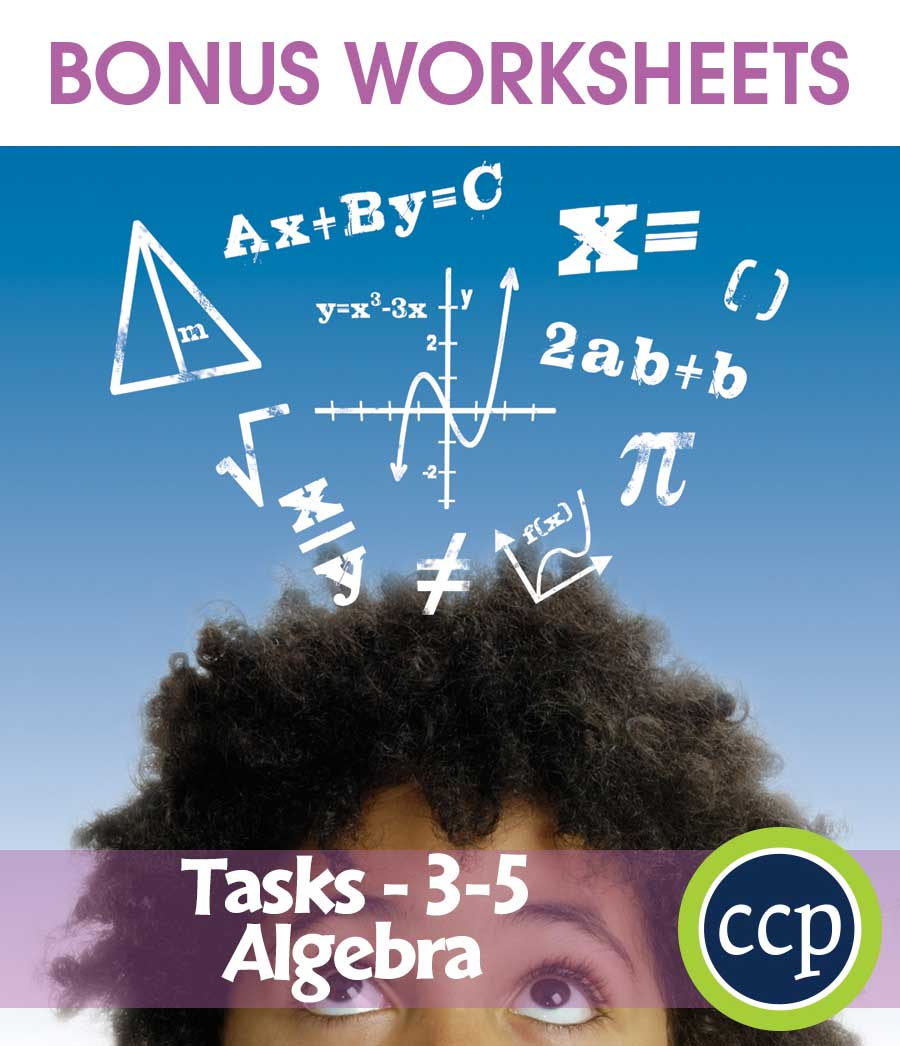 Algebra - Task Sheets Gr. 3-5 - BONUS WORKSHEETS - eBook