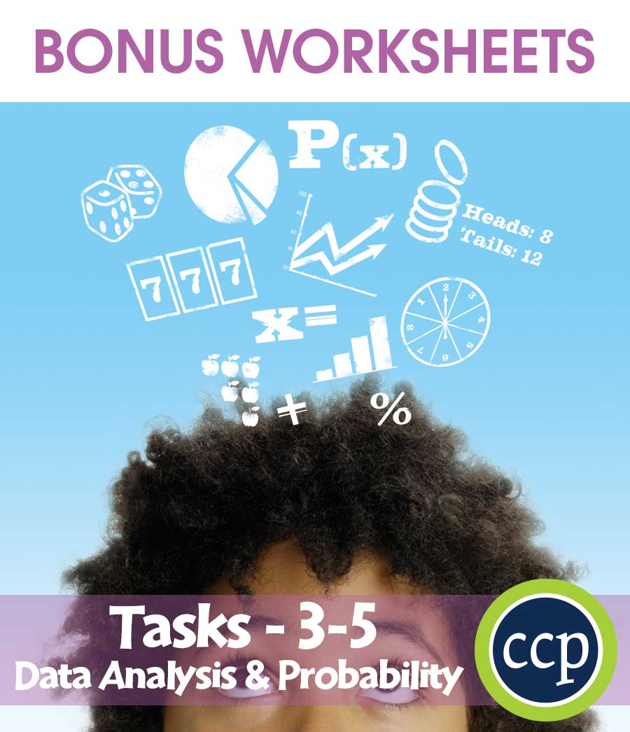 Data Analysis & Probability - Task Sheets Gr. 3-5 - BONUS WORKSHEETS - eBook