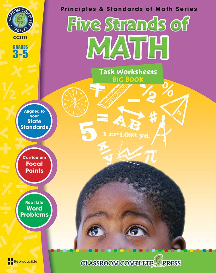 Five Strands of Math - Tasks Big Book Gr. 3-5 - print book