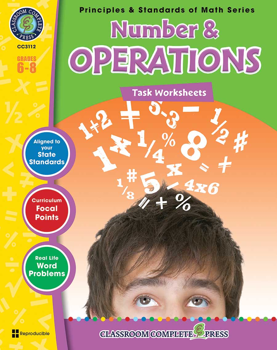 Number & Operations - Task Sheets Gr. 6-8 - print book