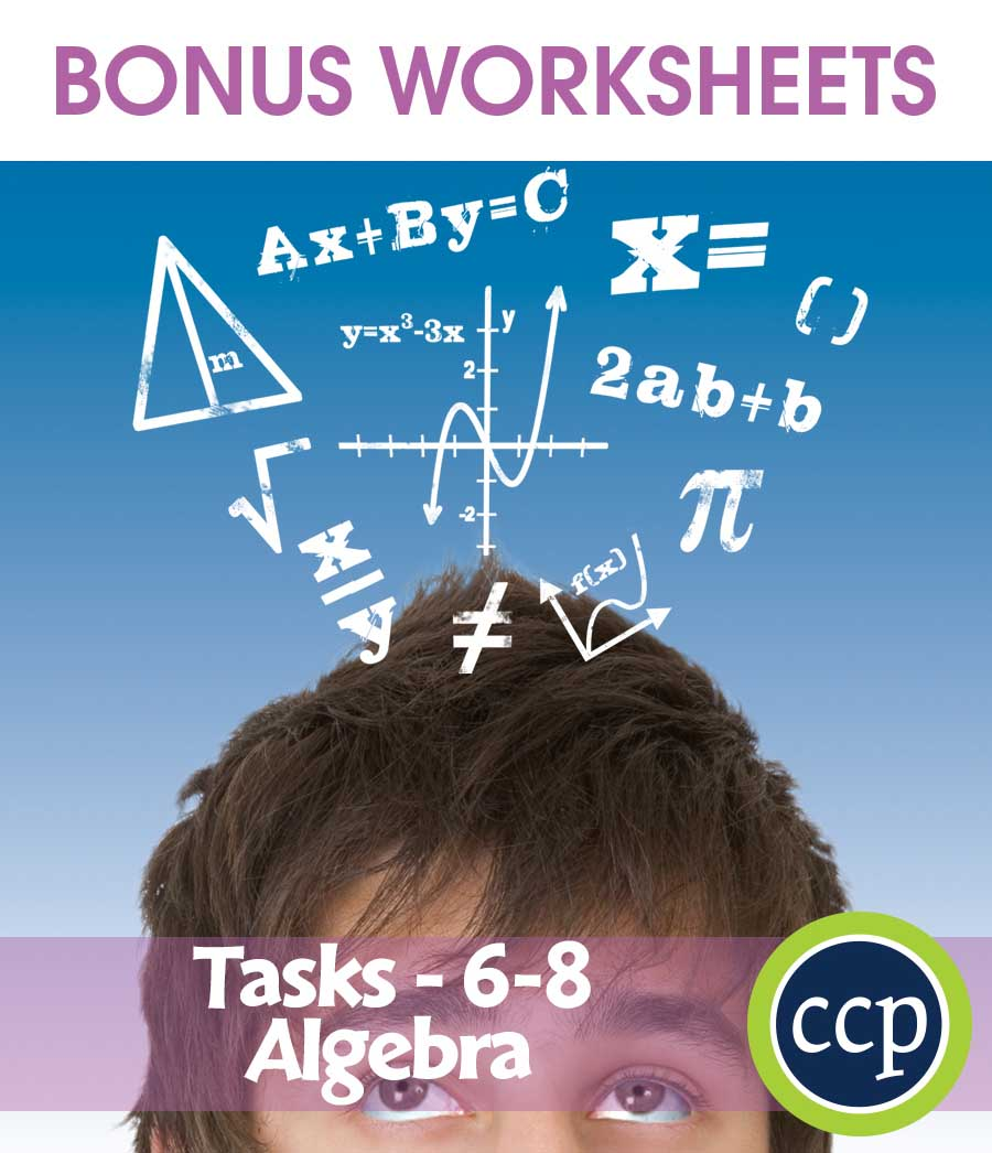 Algebra - Task Sheets Gr. 6-8 - BONUS WORKSHEETS - Grades 6 to 8 ...