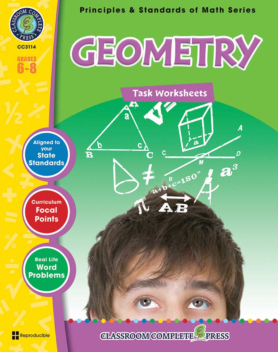 Geometry - Task Sheets Gr. 6-8 - print book