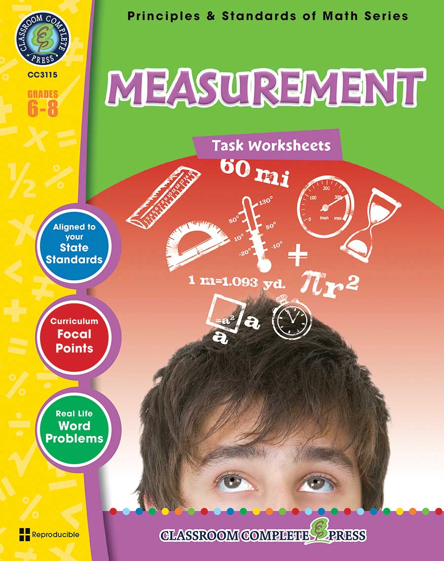 Measurement - Task Sheets Gr. 6-8 - print book