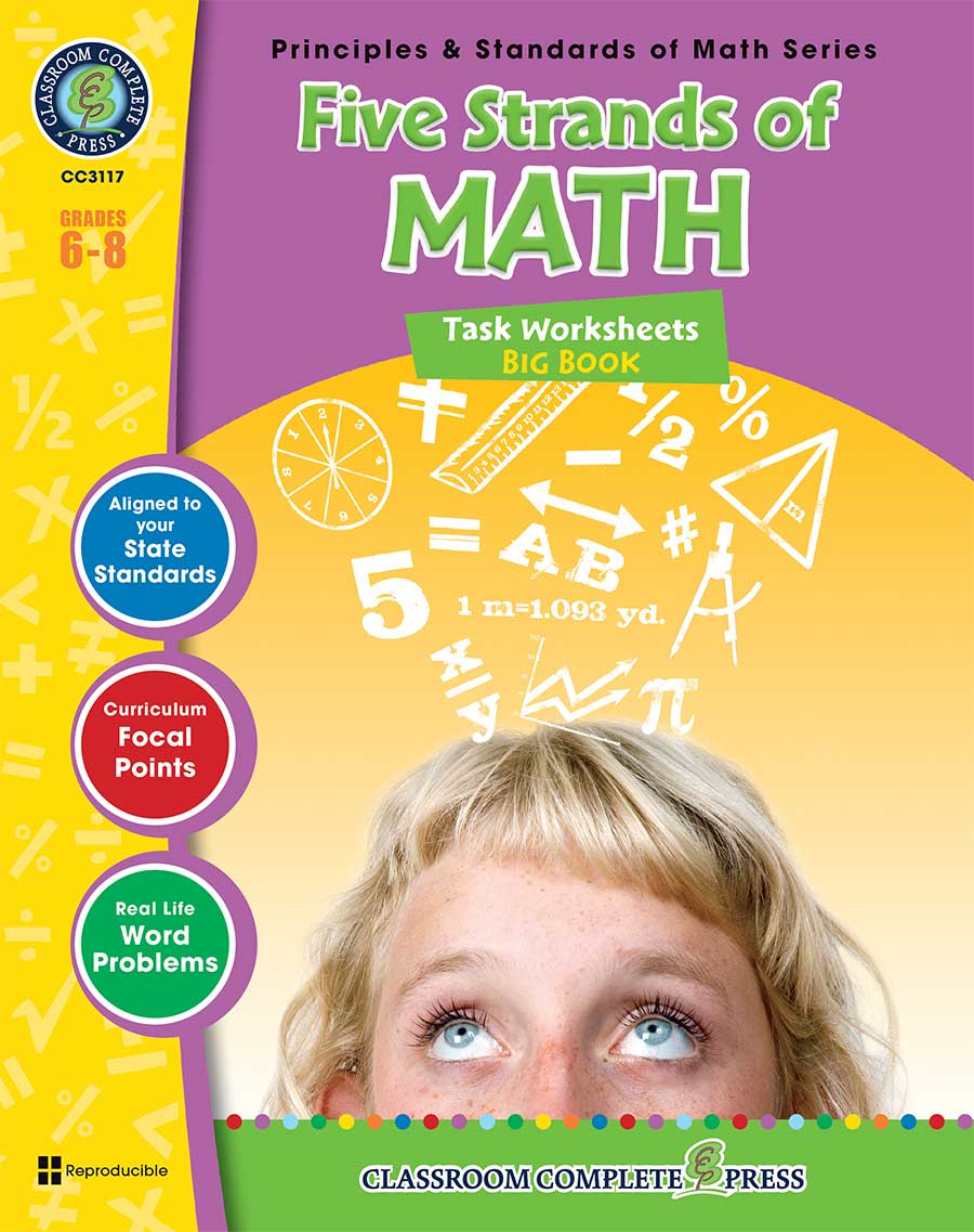 Five Strands of Math - Tasks  Big Book Gr. 6-8 - print book