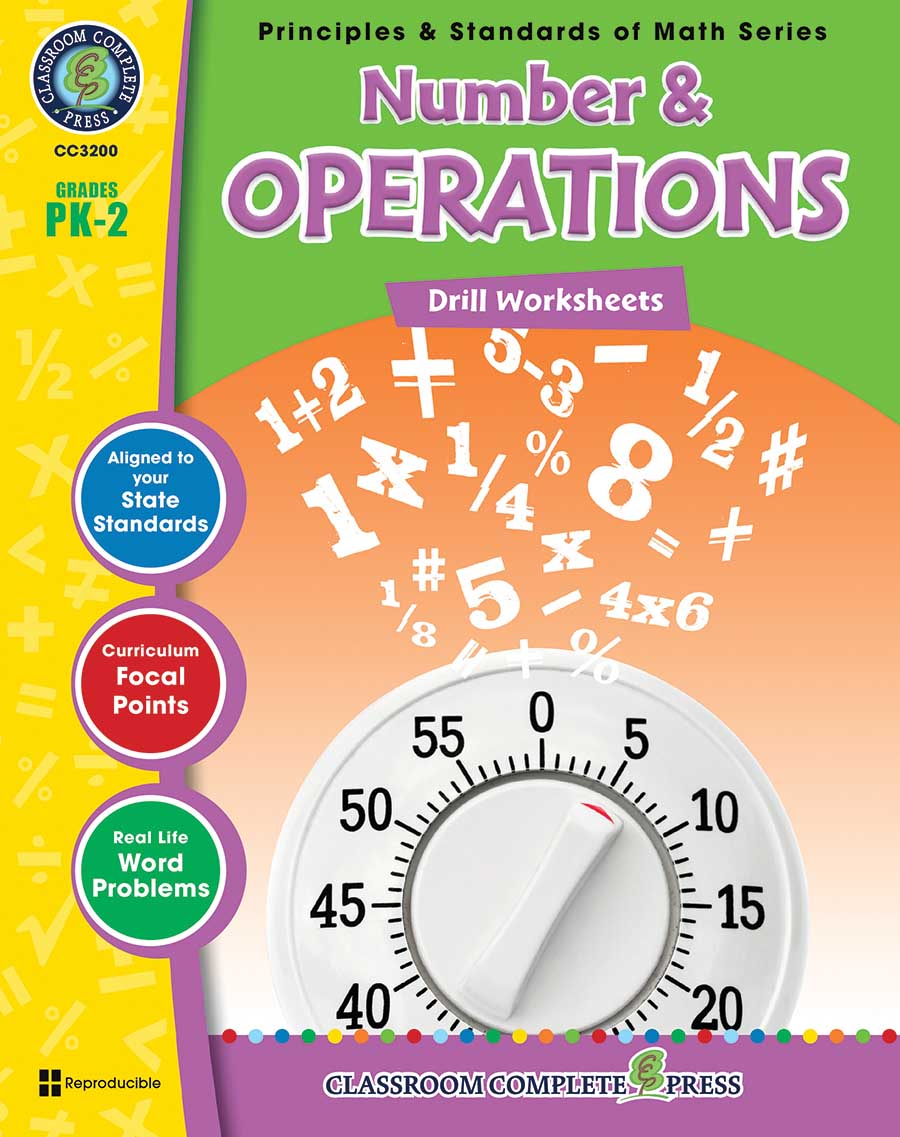 Number & Operations - Drill Sheets Gr. PK-2 - print book