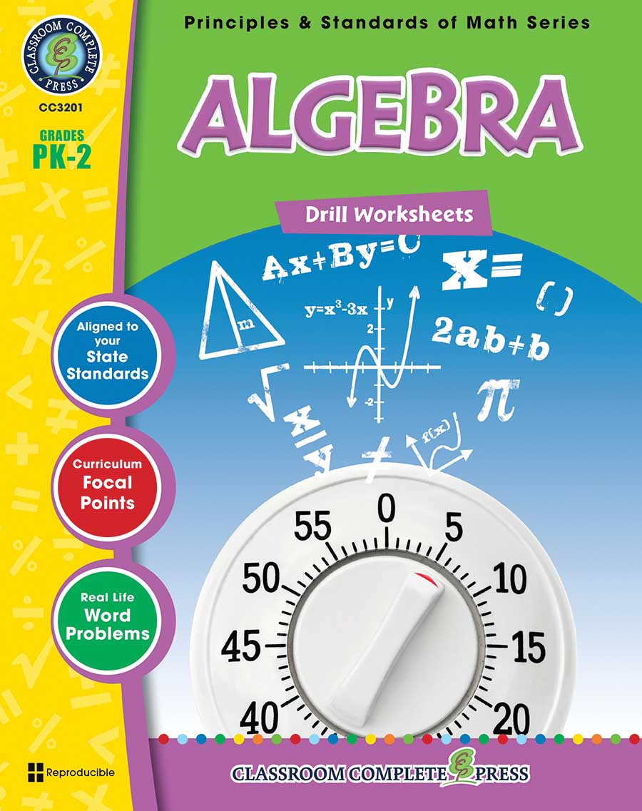 Algebra - Drill Sheets Gr. PK-2 - print book