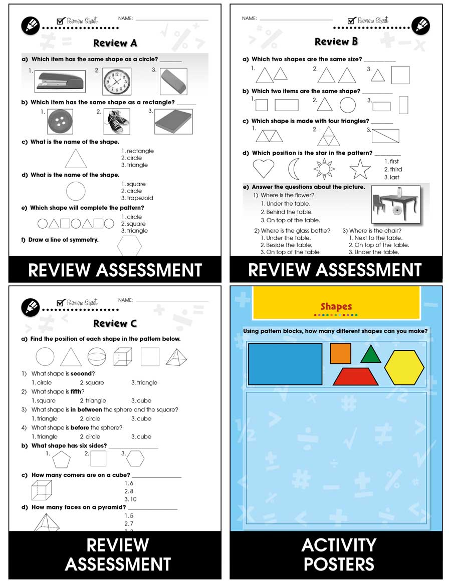 Geometry - Drill Sheets Gr. PK-2 - print book
