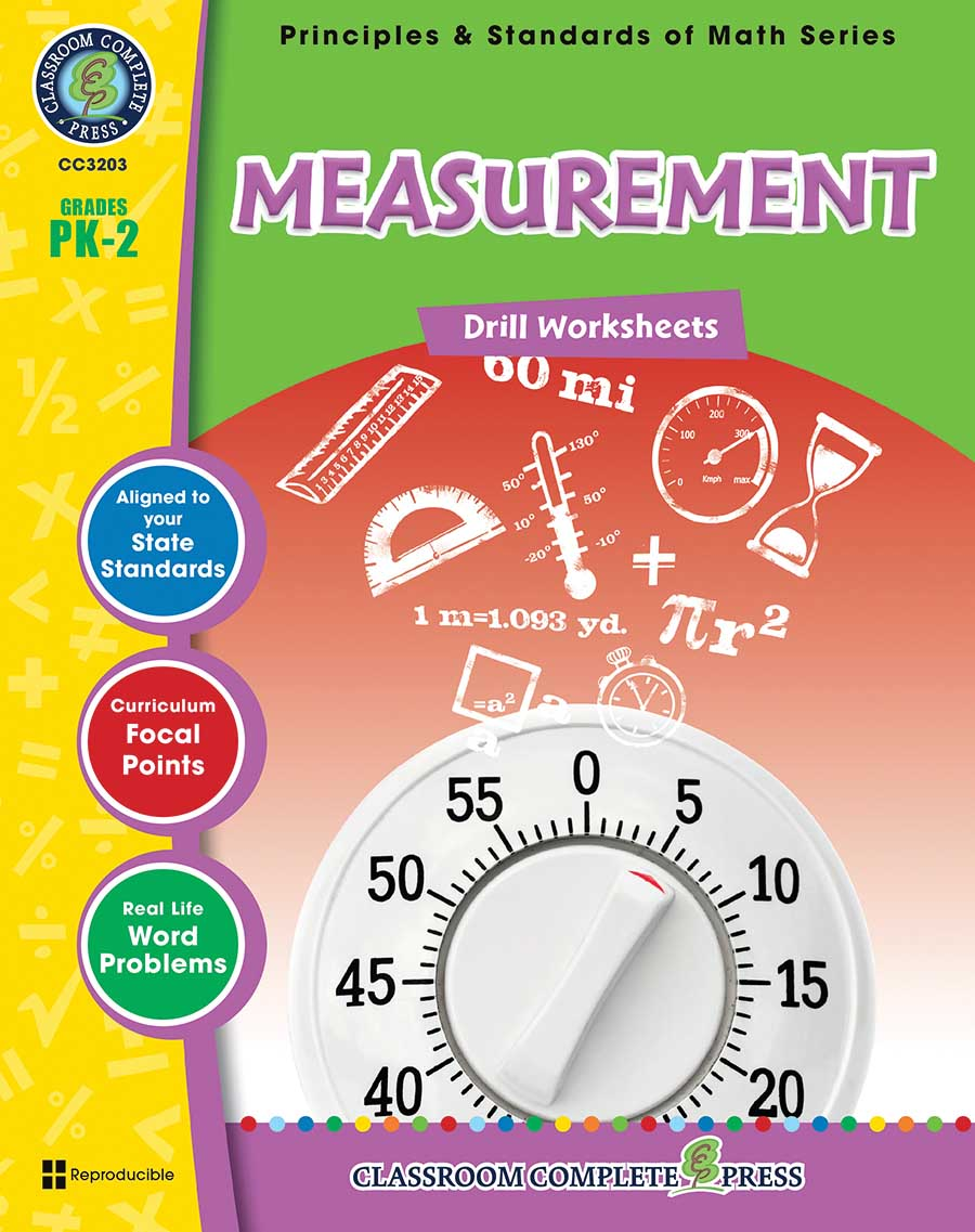 Measurement - Drill Sheets Gr. PK-2 - print book