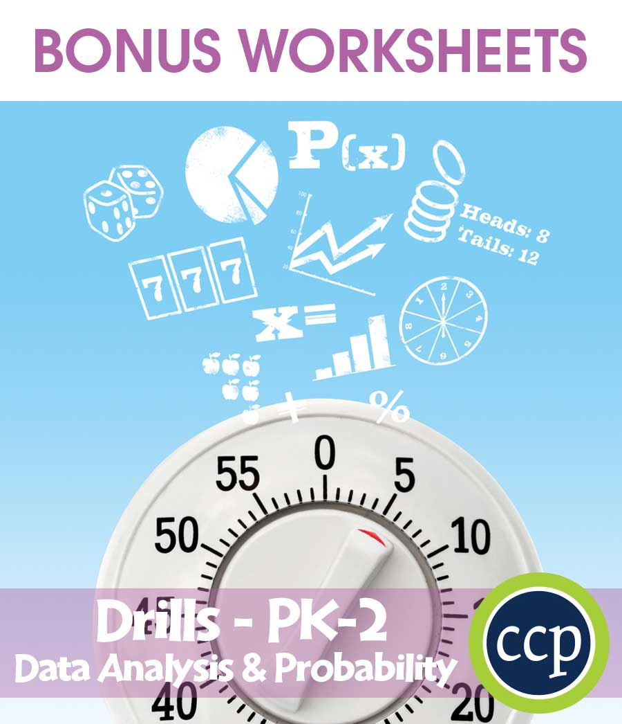Data Analysis & Probability - Drill Sheets Gr. PK-2 - BONUS ...