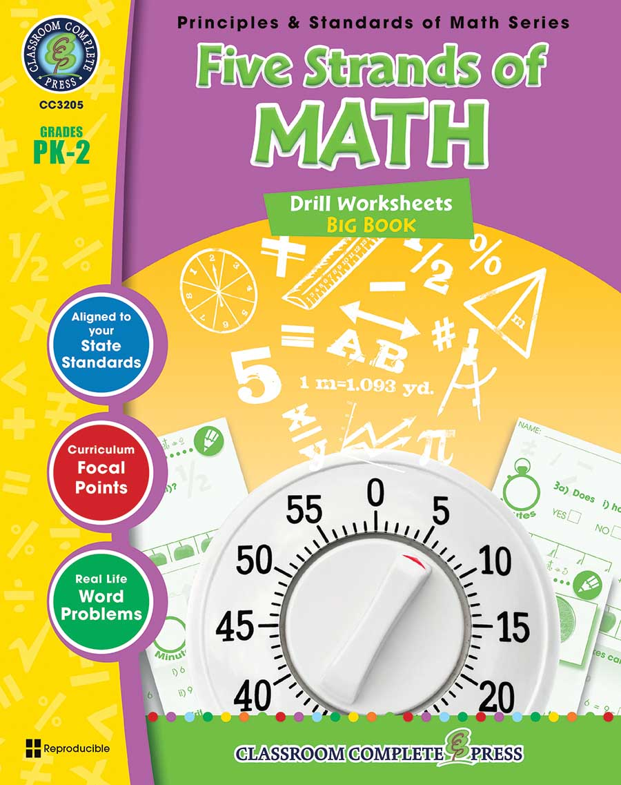 Five Strands of Math - Drills Big Book Gr. PK-2 - print book