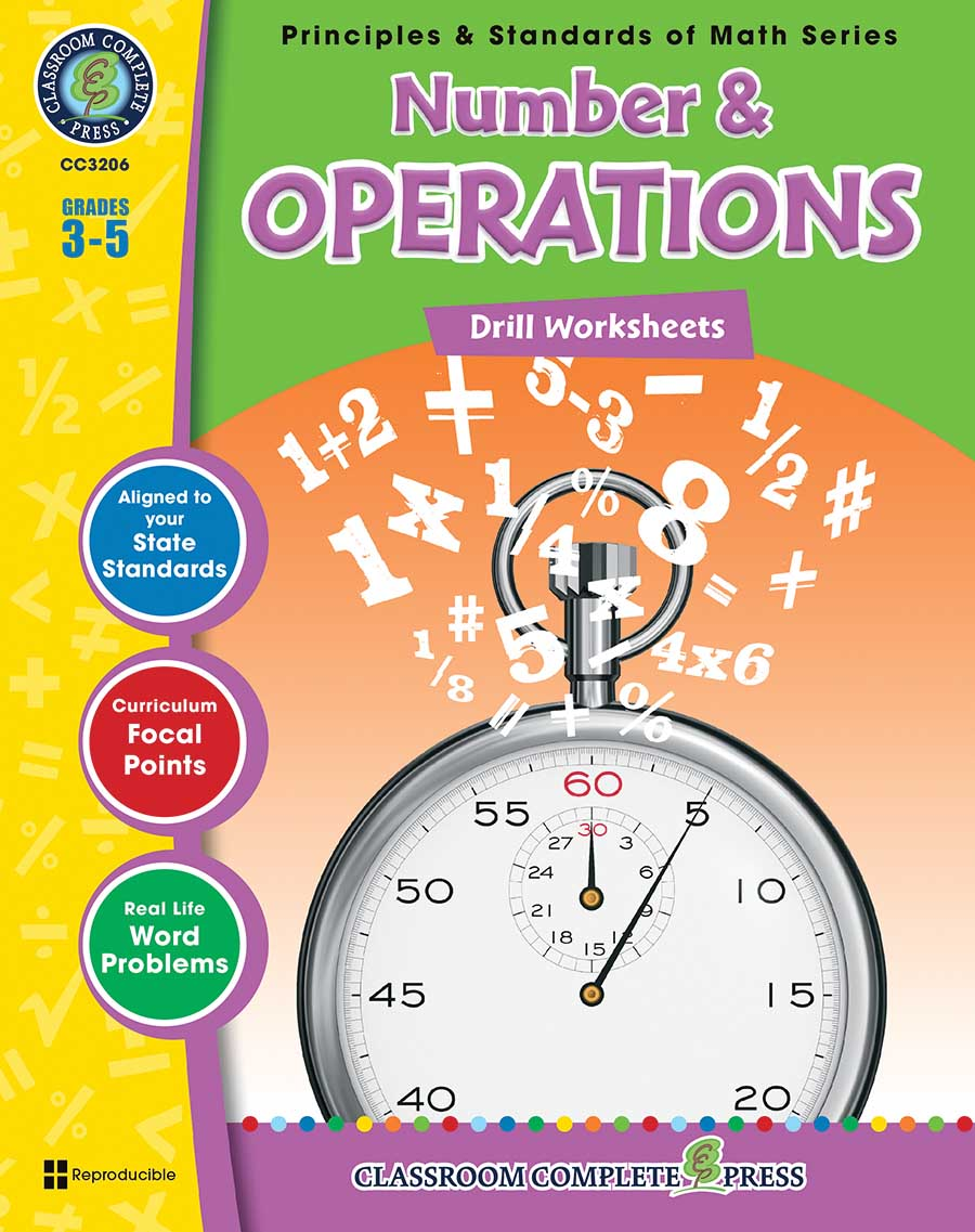 Number & Operations - Drill Sheets Gr. 3-5 - print book