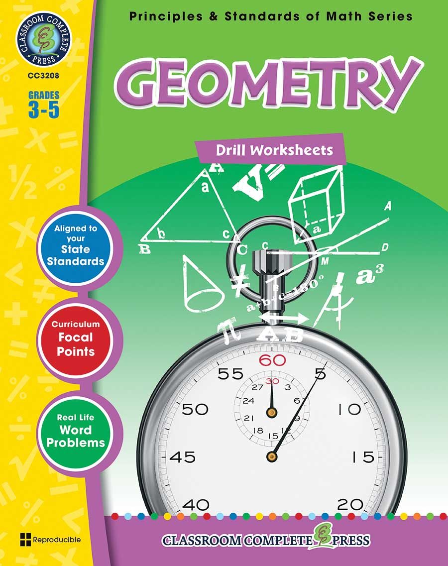 Geometry - Drill Sheets Gr. 3-5 - print book