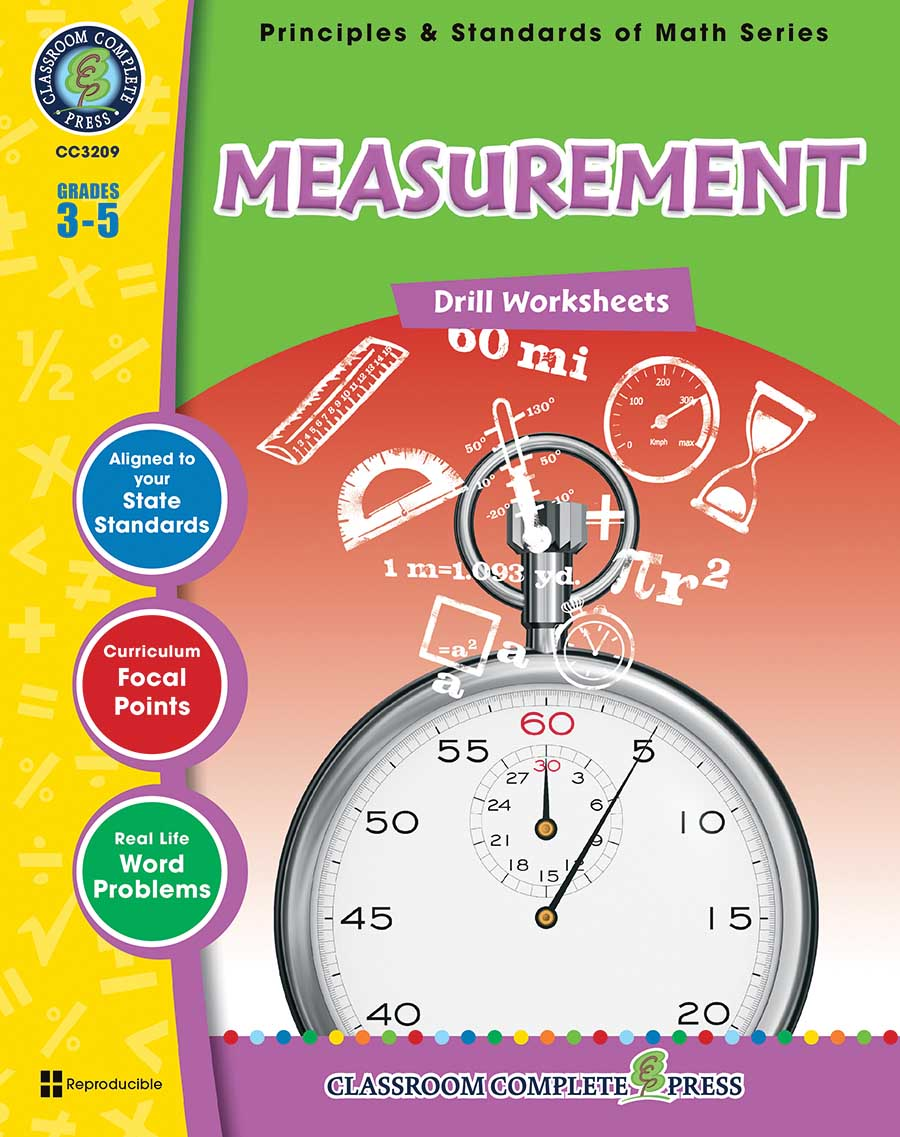 Measurement - Drill Sheets Gr. 3-5 - print book
