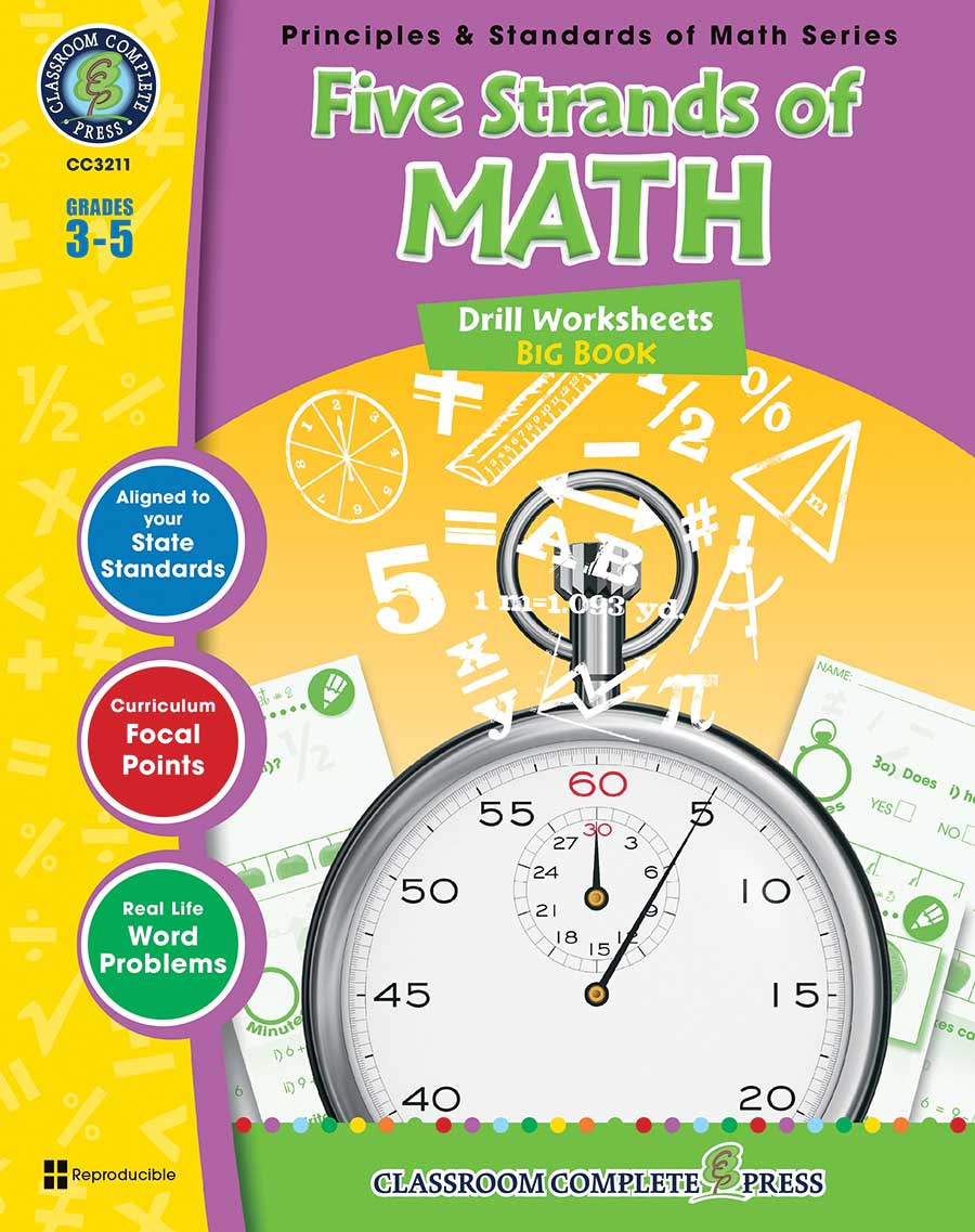 Five Strands of Math - Drills Big Book Gr. 3-5 - print book