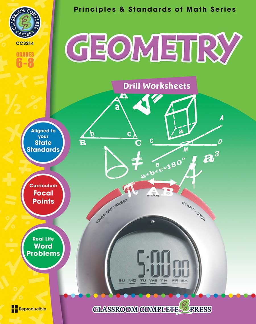 Geometry - Drill Sheets Gr. 6-8 - print book