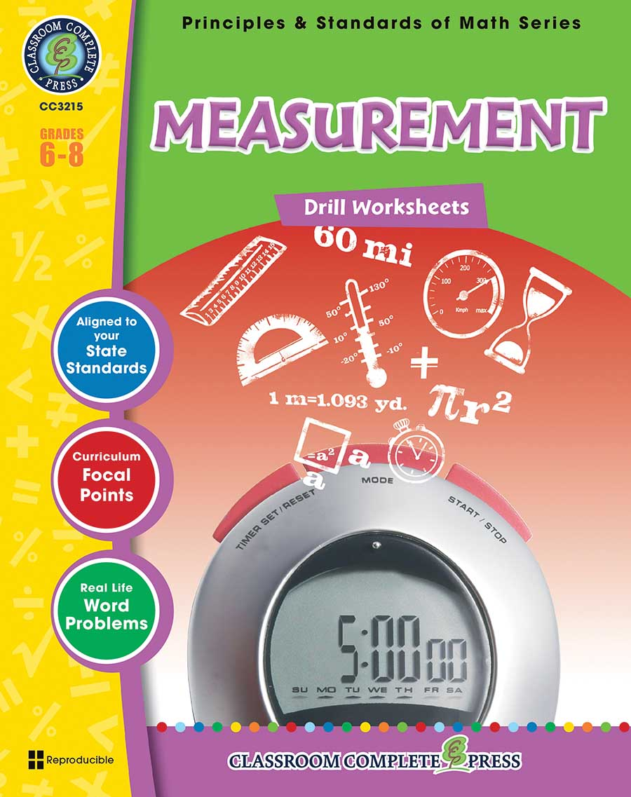 Measurement - Drill Sheets Gr. 6-8 - print book