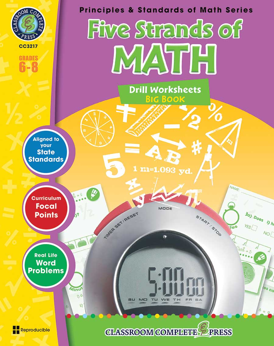 Five Strands of Math - Drills Big Book Gr. 6-8 - print book