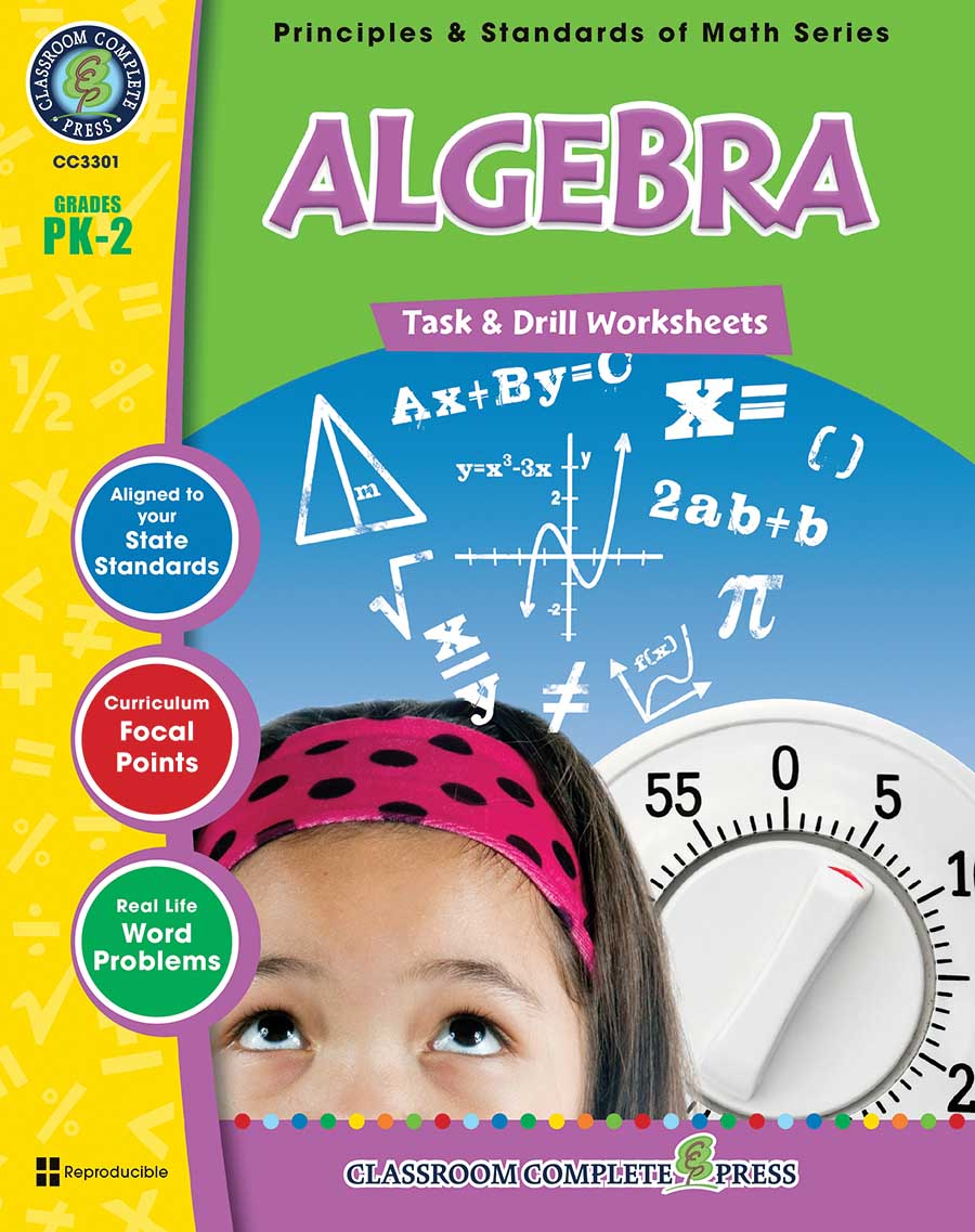Algebra - Task & Drill Sheets Gr. PK-2 - print book