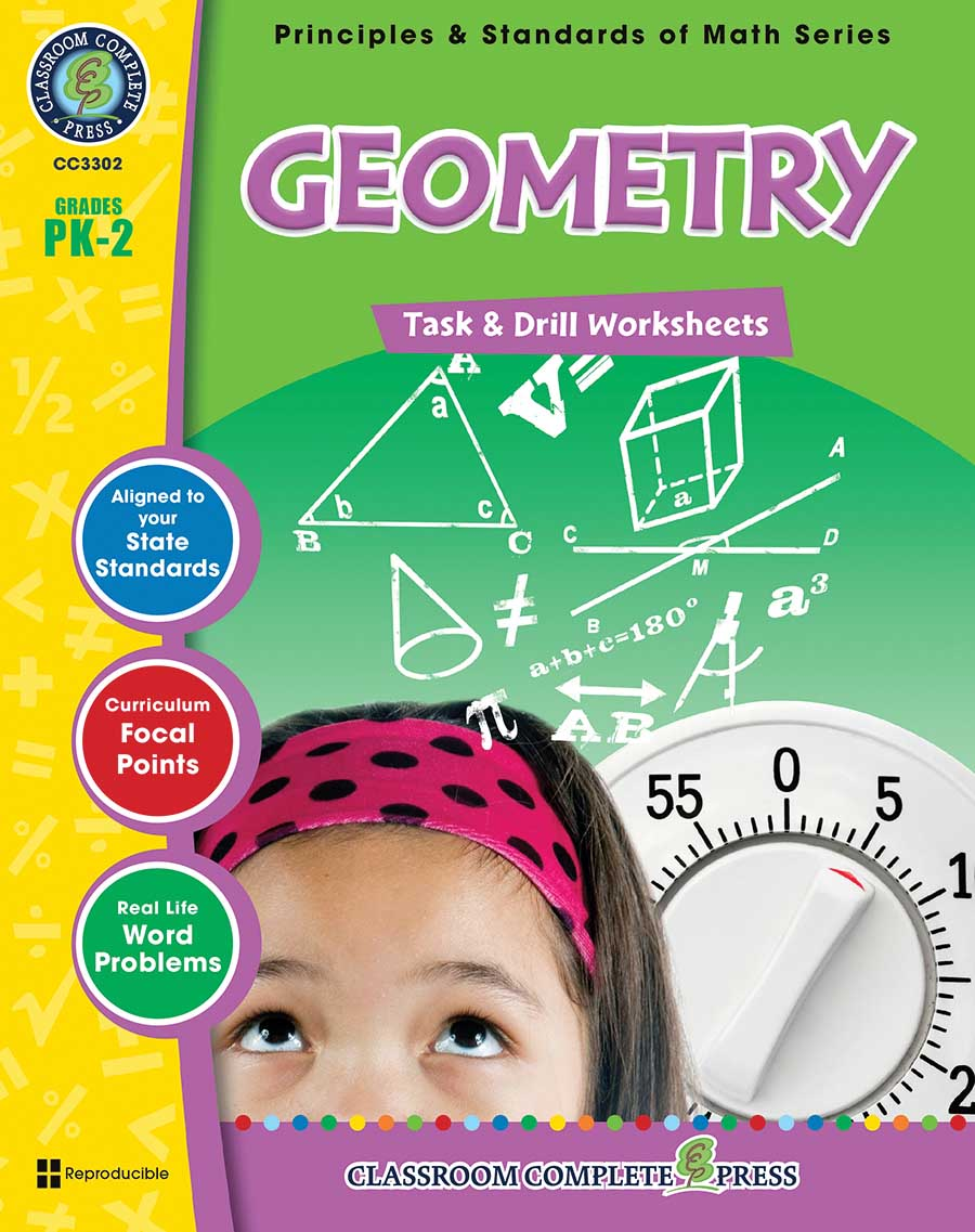 Geometry - Task & Drill Sheets Gr. PK-2 - print book