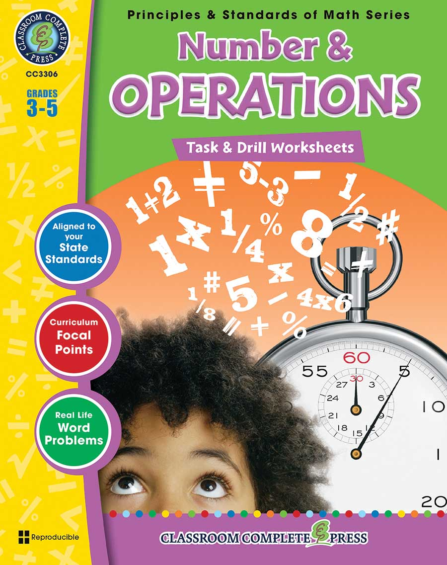 Number & Operations - Task & Drill Sheets Gr. 3-5 - print book